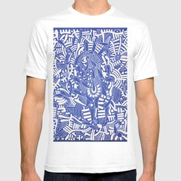 - captain lost in blue - T-shirt