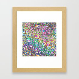 Colorful Synaptic Channels Framed Art Print