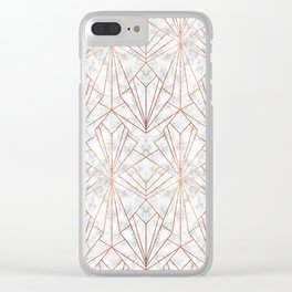 Art Deco Marble & Copper Clear iPhone Case