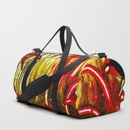 the lights of the new year. fireworks Duffle Bag
