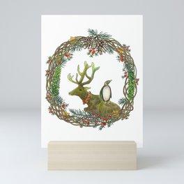 Christmas wreath Mini Art Print