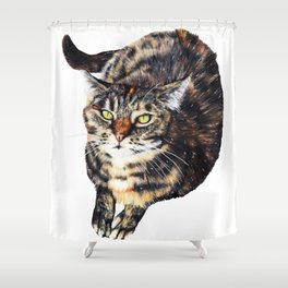 Kitty Cat Chili Shower Curtain