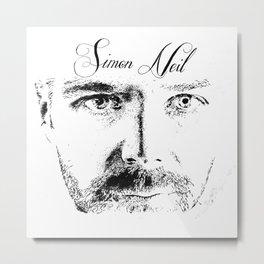 Simon Neil - Biffy Clyro  Metal Print