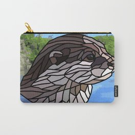 Llyca Queen of the Rivers - Mosaic Otter Carry-All Pouch