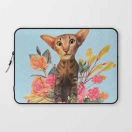kitty in spring blossom Laptop Sleeve