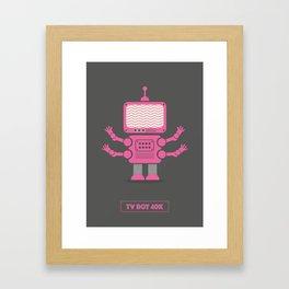TV Bot Framed Art Print