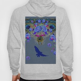 BLUE  NATURE FLORAL FANTASY DREAMS Hoody