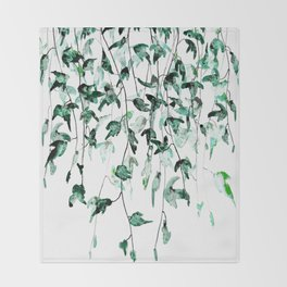Ivy on the Wall Throw Blanket