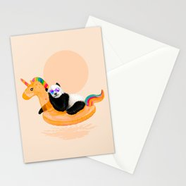Chillin (Unicorn Panda) Stationery Cards