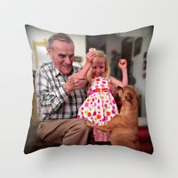 mike wrobel Throw Pillows featuring Mike by Popko Studio