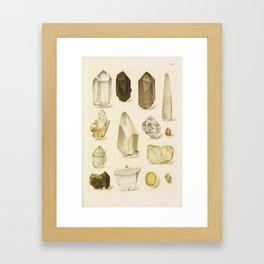 Quartz Crystals Framed Art Print