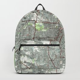 Houston Texas Map (1992) Backpack