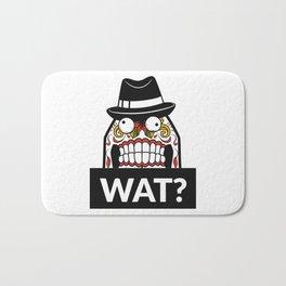 Scary Face - WAT? Bath Mat