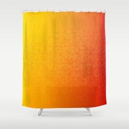 Yellorange Dots Shower Curtain
