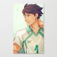 viria Canvas Prints featuring Oikawa by viria