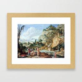 Bartholomeus Breenbergh The Finding of Moses Framed Art Print