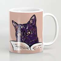 ripley Mugs featuring Ripley Reads by Helenasia