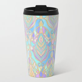 Jade & Blue Enamel Art Deco Pattern Travel Mug