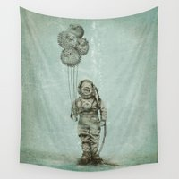 scuba Wall Tapestries featuring Balloon Fish by Eric Fan
