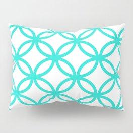 Interlocking Teal Pillow Sham