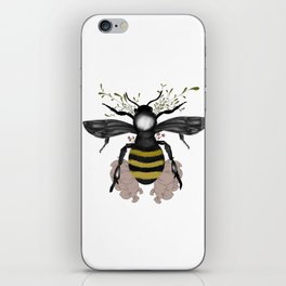 The bee is here iPhone Skin
