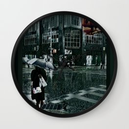 Asterisk/Right Arrow/Rainfall Wall Clock
