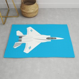 F-15 Eagle Supersonic Jet Aircraft - Cyan Rug