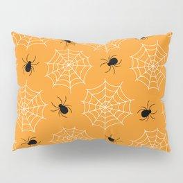 Halloween Spider Web Seamless Pattern Pillow Sham