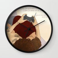 video games Wall Clocks featuring Video games by wreckthisjessy