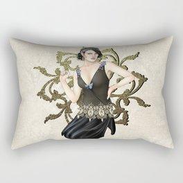 1920s Jazz Siren Rectangular Pillow