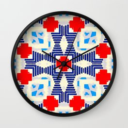COMPLEXITY IS NOT CHAOS #2 - RED/BLUE Wall Clock