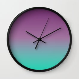 Green and Purple Ombre Wall Clock
