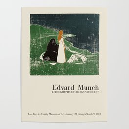 Edvard Munch. Exhibition poster for LA Country Museum of Art, 1969. Poster