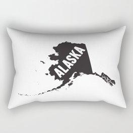 Alaska Typography Map Rectangular Pillow