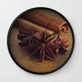 star anise Wall Clock