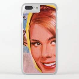Lady in Yellow Clear iPhone Case