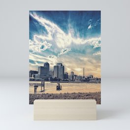 New Orleans Skyline Classic Blue Mini Art Print