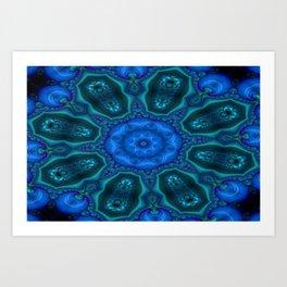 Battling At The Chasm Mandala 12 Art Print