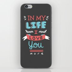 In My Life iPhone & iPod Skin