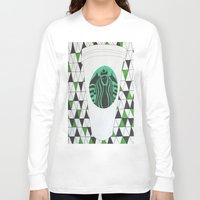 starbucks Long Sleeve T-shirts featuring Starbucks Mermaid  by Clawson Creatives
