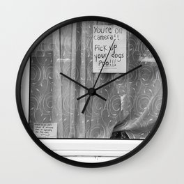 dog poo Wall Clock
