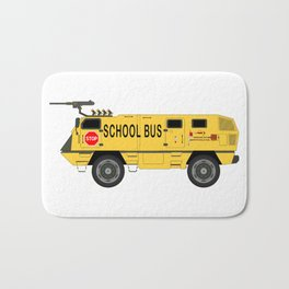 Armored Yellow School Bus Anti-Weapon Tank Bath Mat