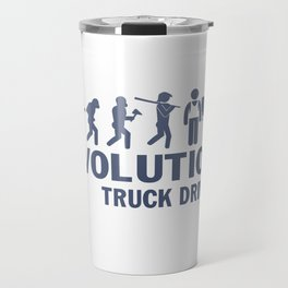Evolution - Truck Driver Travel Mug