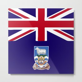 Falkland Islands flag emblem Metal Print