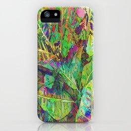 Lush Tropical Greens iPhone Case