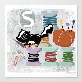 """S"" Canvas Print"