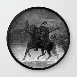 George Washington At The Battle Of Trenton Wall Clock