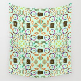 "Seamless pattern in the style of ""printed circuit board"" Wall Tapestry"