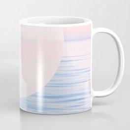 Dreamy Pastel Seascape & Moon - blue Coffee Mug