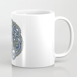 Octopus Emblem Blue Coffee Mug